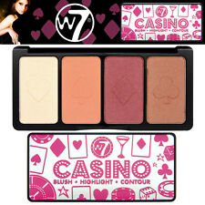 W7 Cosmetics Casino Face Blush Highlight and Contour Palette All in one Makeup