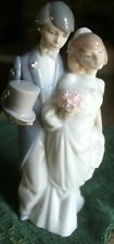 Lladro Wedding Bells Bride Groom Figurine Couple Cake Topper Mint #6164 8 1/4""
