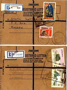 Zimbabwe -2 registered letters