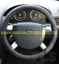 NISSAN FAUX LEATHER LOOK BLACK STEERING WHEEL COVER