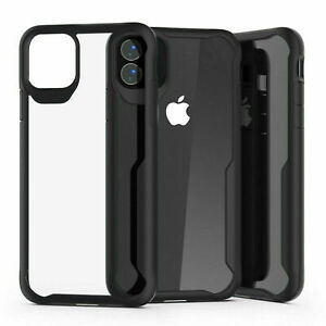 Shockproof Clear Hybrid Bumper Case For Apple iPhone 6, 8, X, 11 Pro, SE, XR, 12