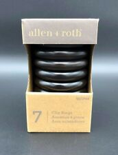 Allen + Roth 7 Clip Curtain Rings With Clips Espresso 0622944 New