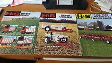 H&S manure spreaders forage boxes big fold rakes Dealers Brochures