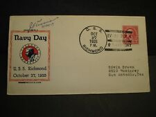 USS RICHMOND CL-9 Naval Cover 1935 GRAVES NAVY DAY Cachet