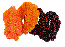 12 NEW Wholesale Large Neon Checked Hair Elastic Scrunchy / Scrunchies
