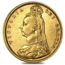 1887-1893 British Gold Half Sovereign Victoria Jubilee Avg Circ