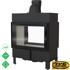 LUCY 14 Tunnel - Double Sided Fireplace Insert / Cassette Stove Wood Burner 14kw