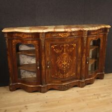 Cupboard Furniture Com Wooden Inlaid Level Marble Antique Style Napoleon III