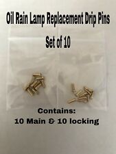 Vintage Oil Rain Motion Lamp Drip Line Pins: Set of 10