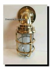 NAUTICAL LIGHT MARINE SHIPLIGHT BRASS BULKHEAD PASSAGE LIGHT OUTDOOR LIGHT 1 PC.