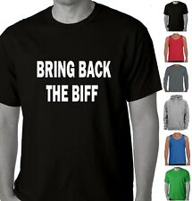 Men's Funny T-Shirts Singlet BRING BACK THE BIFF Rugby League NRL footy Tee's