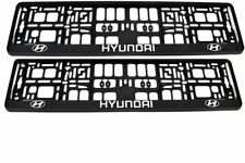 2x HYUNDAI 3D CHROME EFFECT NUMBER PLATE SURROUNDS HOLDER FRAME