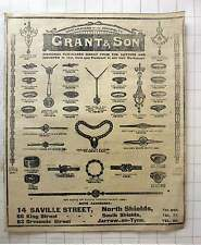1916 Grant And Sons Watchmakers To The Admiralty Saville Street N. Shields