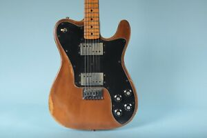 1975 Fender Telecaster Deluxe Mocha Electric Guitar with Leather Case