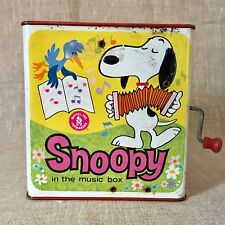 Snoopy Jack in the Box Vintage Mattel Peanuts B1966 Metal Toy Restore for Parts