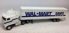 Ertl Wal Mart Sam's Club Semi Tractor Trailer 1:64 Die Cast Metal Kenworth Used