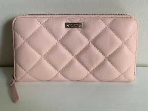 KATE SPADE GOLD COAST LACEY BALLET SLIPPERS PINK ZIP AROUND CLUTCH WALLET $228