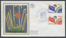 FRANCE FDC - S86 87 1 UNESCO -  PARIS 14 Octobre 1978 - LUXE sur soie
