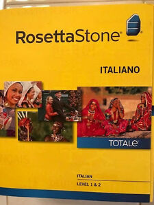 Rosetta Stone Italian Totale Level 1 and 2 Version 4.Brand New Completely Sealed
