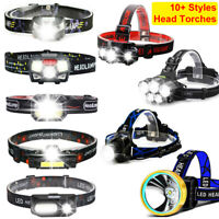 1200000LM T6 LED Headlamp Headlight Torch Rechargeable Flashlight USB Work Light