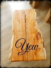 Cumbrian Rustic Waney Yew Pippy Wood Timber Board Plank Woodwork LA5 English
