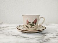 Epoch Spice Blossoms - Cup & Saucer Cream Floral Oregano & Lavender