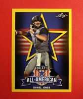 Gold Parallel 2019 Leaf Daniel Jones Duke Blue Devils All American card #70*Rare