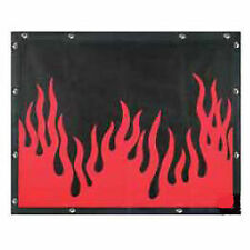 FLAMES BUG SCREEN - PETERBILT 377, 378, 379 (Regular Hood)