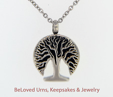 Funky Tree Of Life Circle Cremation Jewelry Pendant Keepsake Urn- Chain & Funnel