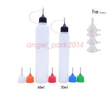30ML(1 oz) 60ml(2 OZ) Empty Plastic Long Shaped Dropper Bottles Needle Tip LDPE