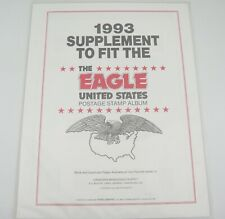 Canadian Wholesale Supply 1993 Eagle United States Stamp Album Supplement