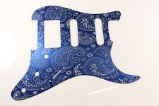 Blue Anodized Paisley  Aluminum HSS Strat Pickguard- Fits Fender Stratocaster