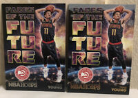 2018-19 Panini NBA Hoops Faces Of The Future Winter & Base Trae Young RC LOT(2)