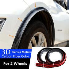 2x 1.5m Car Wheel Fender Brim Universal Rubber Moulding Flares Protection Strip