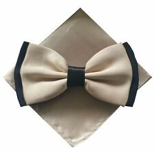 Bow tie Set Handkerchief Multicolour two-coloured 2 colours Bound Bix Unisex
