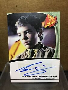 STEFAN ARNGRIM BARRY LOCKRIDGE LAND OF THE GIANTS FANTASY IRWIN ALLEN AUTO #A14