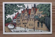 Belgien Künstler Steinzeichnung Litho AK Brügge Brugge 1910-20er Het Vrije  BE13
