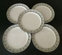 5 DENBY ENGLAND STONE AMETHYST  SALAD PLATES PLATE LUNCHEON LUNCH