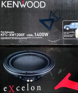 """Kenwood KFC-XW1200F 12"""" Single 4 ohm eXcelon 1400W Shallow Car Subwoofer NEW"""
