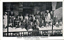 Holloway. Great Northern Central Military Hospital. Wounded Soldiers on Balcony.