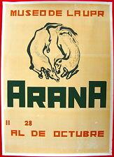 Alfonso Arana Cartel 1968? Poster Serigraph Museo UPR Puerto Rico