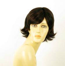 perruque femme 100% cheveux naturel courte méchée noir/rouge JENNA 1b410