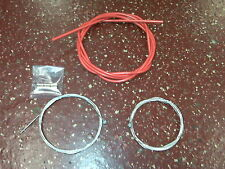 Bicycle Bike Brake Cable Set with innerwires & housing 1 front 1 rear Red