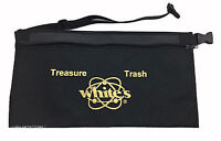 """Whites Metal Detector BLACK WAIST POUCH With ADJUSTABLE WAIST BELT Up To 48"""""""