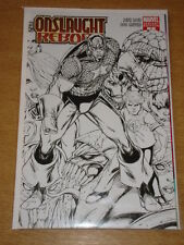 ONSLAUGHT REBORN #1 MARVEL COMICS VARIANT EDITION SKETCH COVER CAPTAIN AMERICA