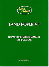 NEW Land Rover V8 Series 3 Workshop Manual Supplement (Official Repair Manual)