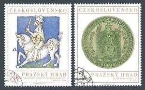 Czechoslovakia 1884-1885, CTO. Michel 2141-2142. Prague Castle Art, 1973.