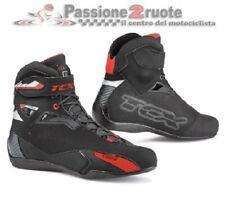 Scarpe moto Tcx Rush nero rosso misura 43 black red shoes