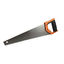 "16"" Hand Saw Grip Handle Rip Tooth Wood Metal Tool"