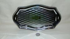 "Silver Tone Small Decorative Surving Tray 11"" X 6 1/4"""